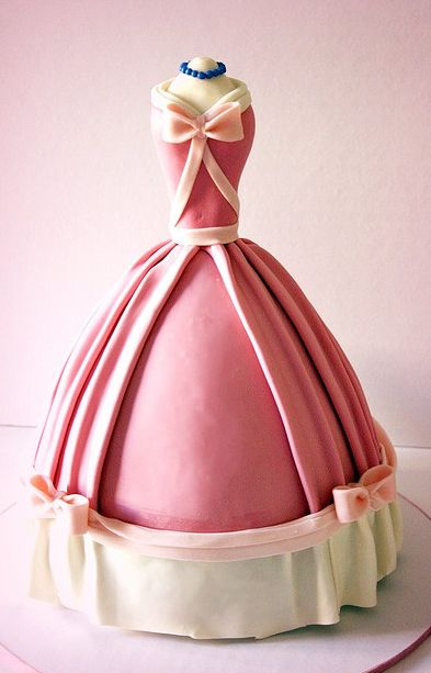 Cinderella cake...I can remember my mom doing the barbie cakes when I was a kid...I like this even better. Have a friend's bridal shower coming up....may try this with a wedding dress theme :D