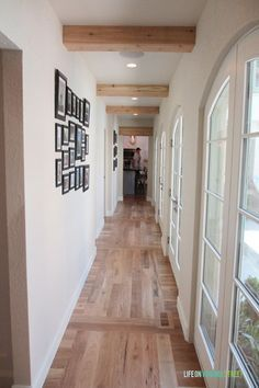 Image result for wood beam across hallway