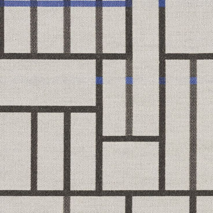 Subdivide - City Block | Subdivide harkens back to the Bauhaus, where architectural drawings and plans were drafted with the guiding principles and foundation of modernism. Utilizing a loom with a large horizontal repeat capability, we've created a large pattern of linework and blocks designed to be cut and sewn without having to match the repeat. Natural fibers on the surface create a soft hand, while a nylon warp provides the strength to meet 100,000 double rubs.