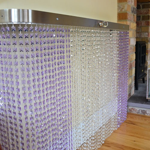 CRYSTAL Bespoke radiator covers - Couture Cases mixing octagon and square crystals