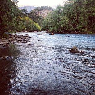 Saltdalselva, a river in Saltdal, Norway.