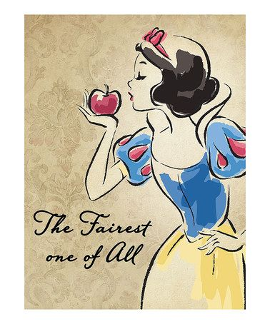 Look what I found on #zulily! Snow White Vintage Fashionista Wrapped Canvas #zulilyfinds
