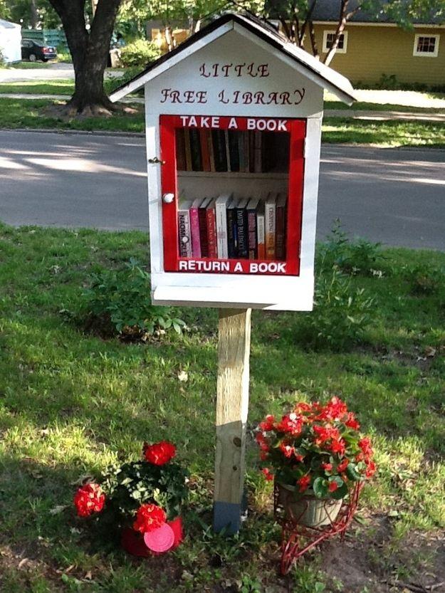 books - little library - little house - exchange books