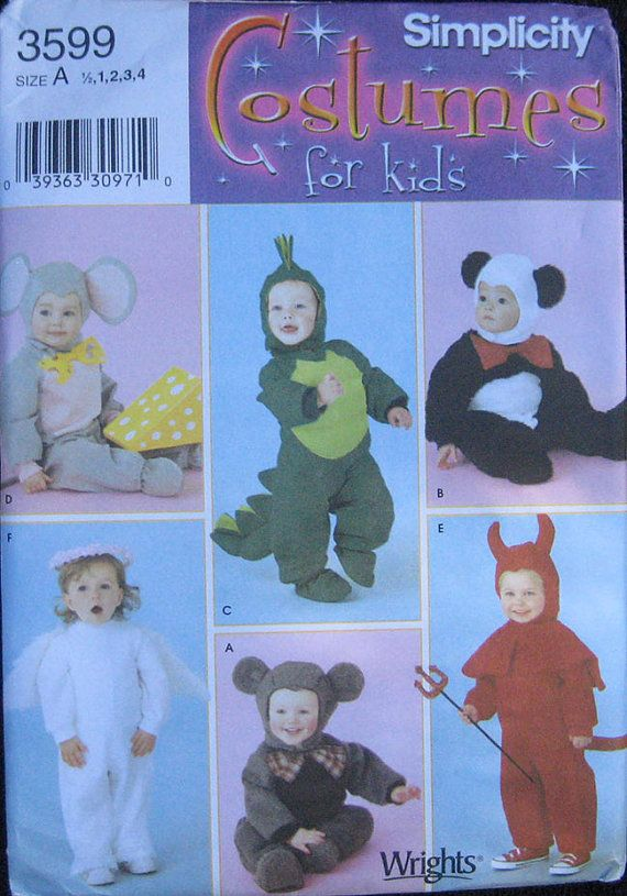 SImplicity Halloween Costume Pattern Kids 3599 by TheHowlingHag