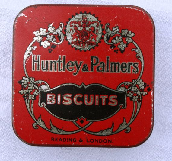 Vintage Miniature Huntley and Palmers Biscuit Tin by Tinternet