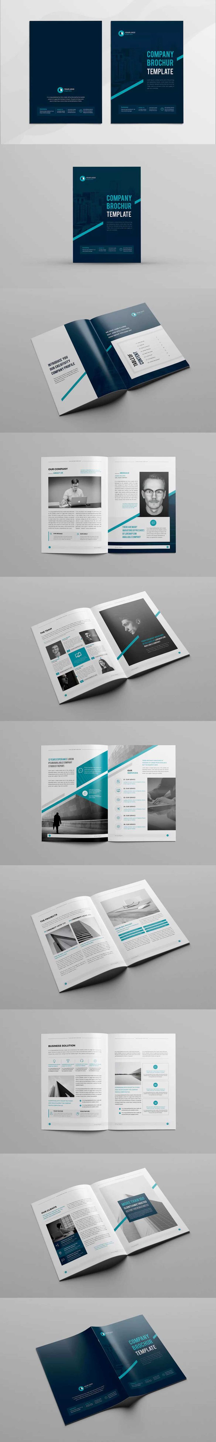 Company Profile Template 16 Pages InDesign INDD A4