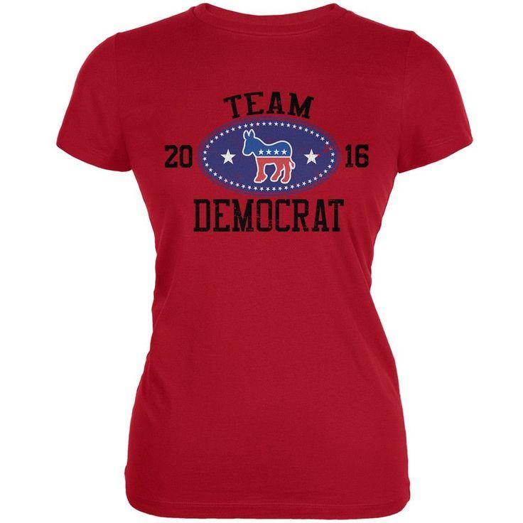 Election Team Democrat 2016 Red Juniors Soft T-Shirt