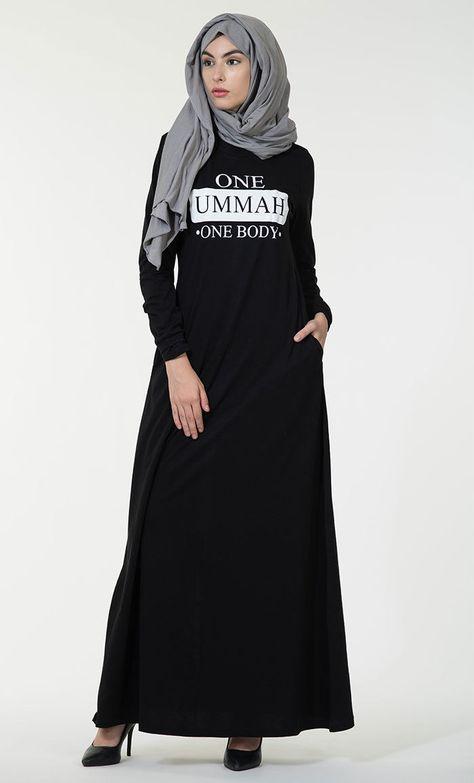5fb969366446 Details about One Ummah One Body Cotton Jersey Abaya-Final Sale Item ...