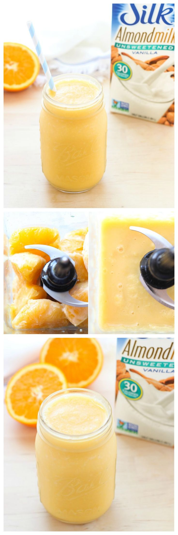 Two Ingredient Orange Creamsicle Smoothie- packed with vitamin C for glowing skin!