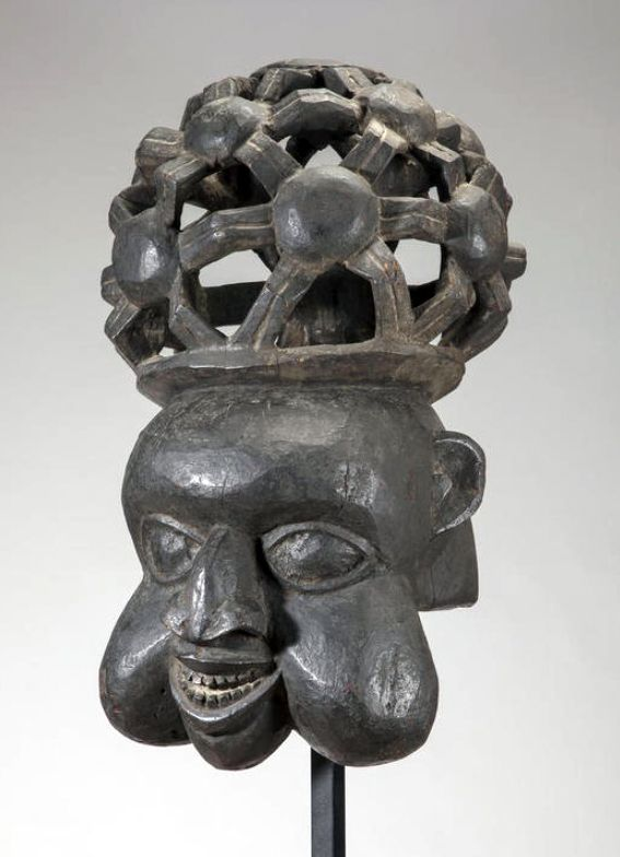 Africa | Helmet mask from the Bamum Area, Grasslands, Cameroon | Wood | ca. mid 1900s