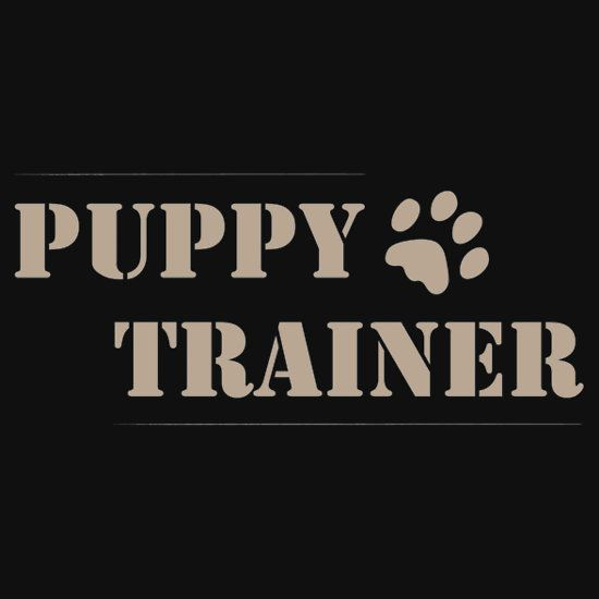 Perfect for you Puppy Trainers and handlers out there (even the Human Pups), this cute doggie paw print Puppy Trainer T-shirt design is also available on gifts and other apparel.