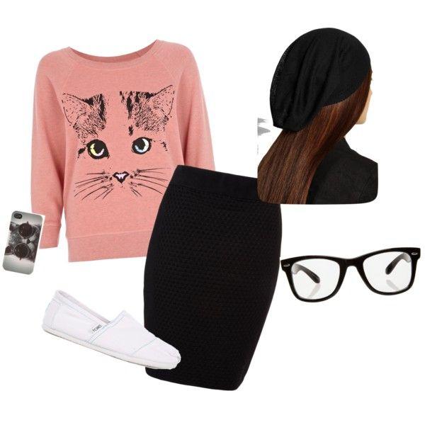 """kitty cat"" by laddeebugg on Polyvore"