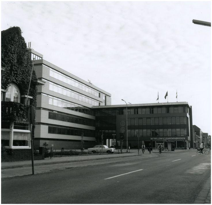 Willem II sigarenfabrieken, Eindhovenseweg, gelegen op de hoek met de Valkenierstraat, 1955 - 1965