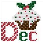 December Cupcake Cross Stitch Pattern