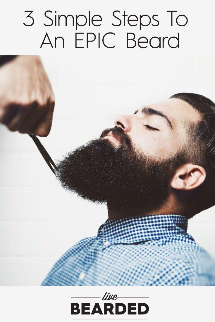 3 Steps To Growing An EPIC Beard | Beard Growing Tips | Bearded Men |