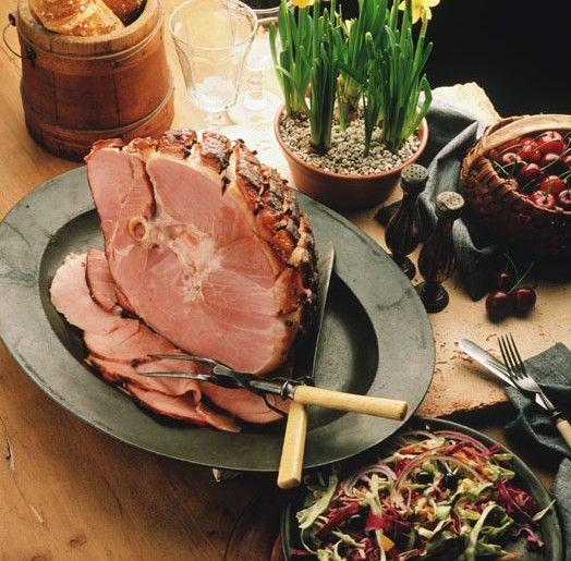 Baked Ham w/ Clove Mustard Glaze