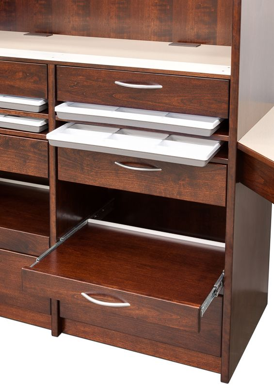 Taboret With Double Angled Wings (detail View), This Taboret Features Frame  Tray Storage