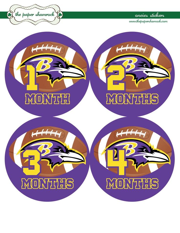 Baltimore Ravens Onesie Stickers