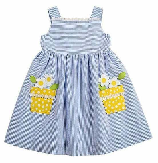 Flower pot pocket dress