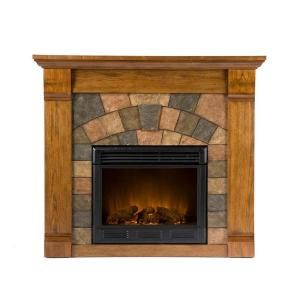 Southern Enterprises Elkmont 46 In Electric Fireplace In Salem Antique Oak Fa9282e At The Home