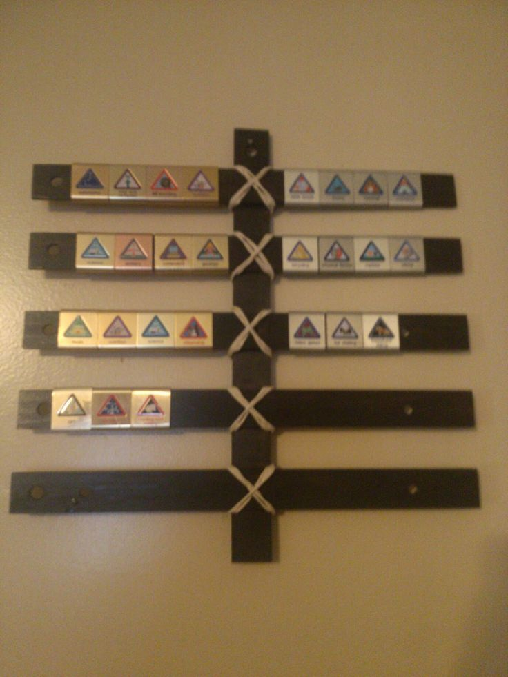 Book, Wine and Time: Make a Cub Scout Belt Loop Display for $1.50 bookwineandtime.blogspot.com