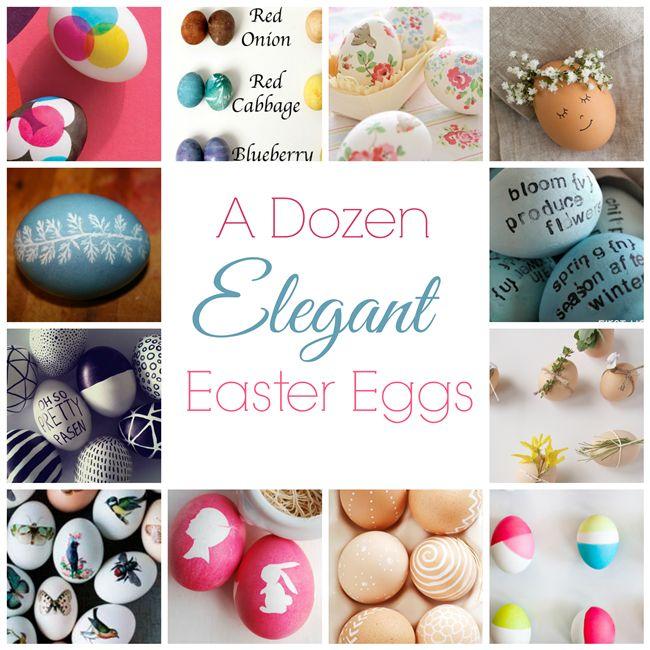 12 elegant vintage ideas for decorating Easter eggs