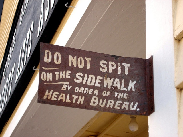 """hand-painted sign in colorado. i love the treatment of """"on the"""""""