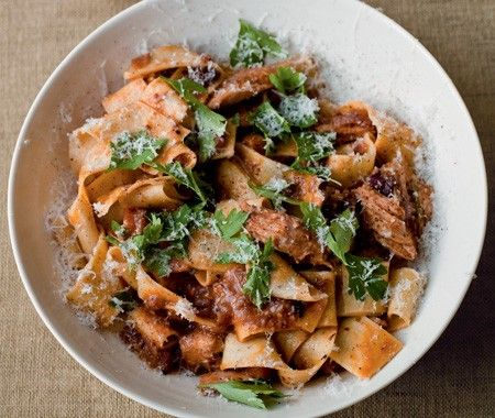 Pappardelle With Rabbit Ragù Recipe  From chef Gordon Ramsey's cookbook: Gordon Ramsay's World Kitchen.