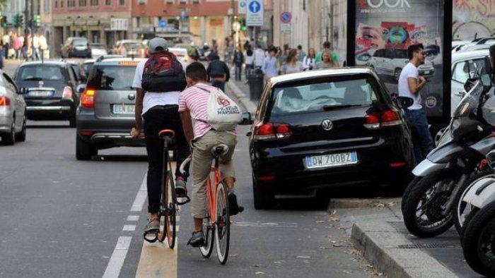 #Milano in #bici: grandi spazi, strade piatte, ma in sella si rischia