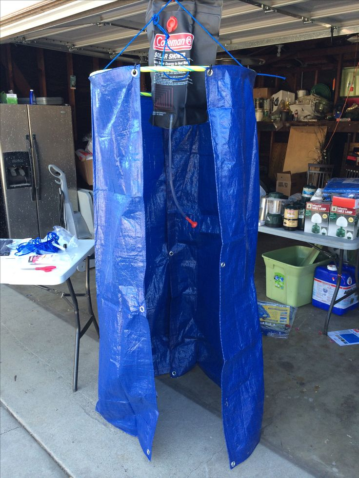 Buy Porta Potty >> Hula hoop, zip ties and tarps for a camping shower for ...