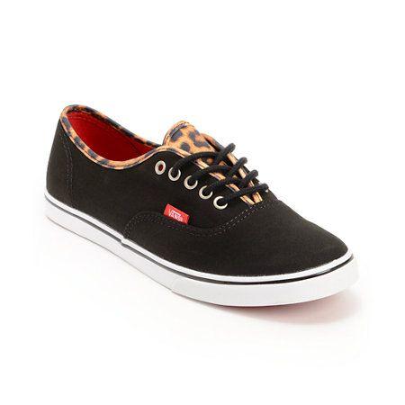 Vans Authentic Lo Pro Black  Leopard Print Shoe