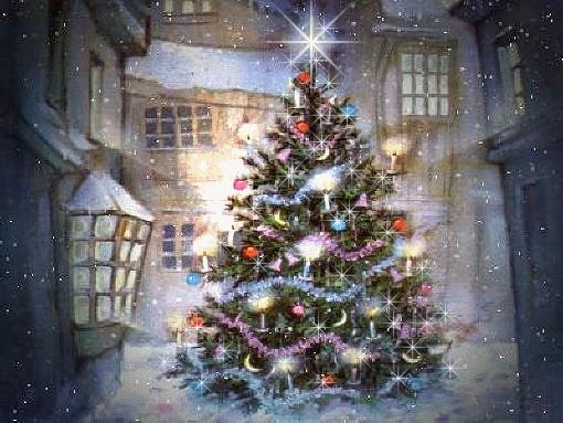 Arbre de Noël clignotant