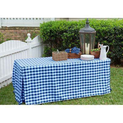 Tablevogue Fitted Tablecloth Color: Blue