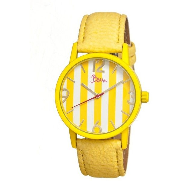 Boum Gateau Yellow Stainless Steel Case Ladies Watch found on Polyvore