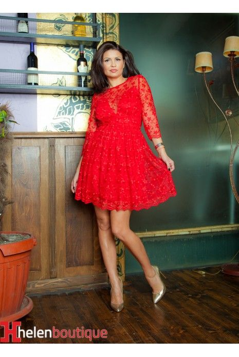 Rochie Axya red