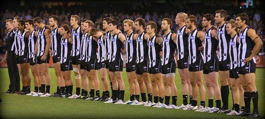 Collingwood Football Club. United we stand.