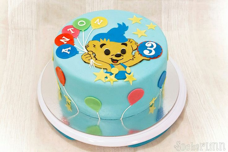 Bamsetårta Bamse Cake tårta barntårta födelsedagstårta birthday cake kid ⭐sockerlinn.se⭐