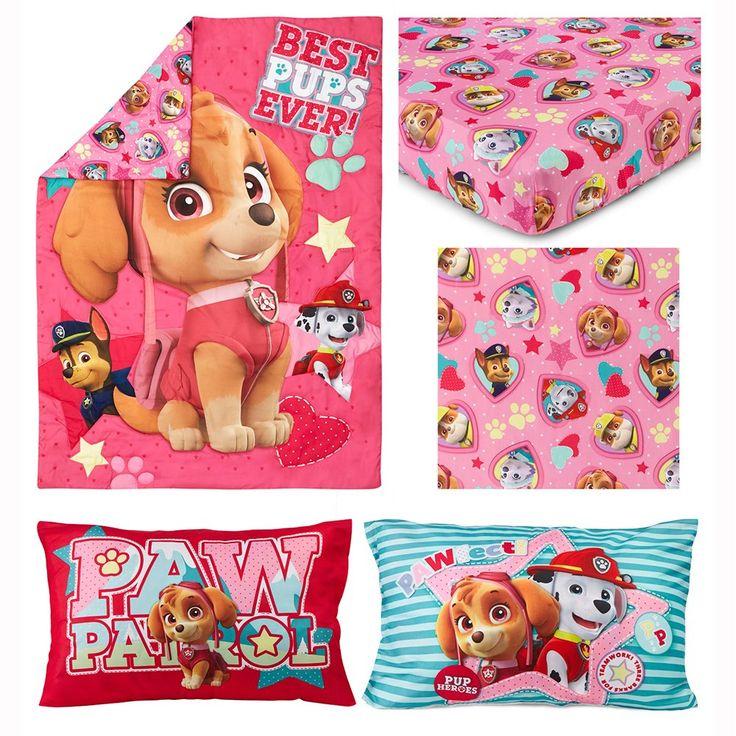 Paw Patrol Skye Best Pups Ever 4 Piece Toddler Bed Set ...
