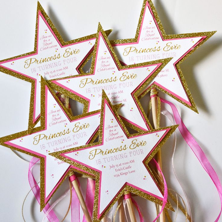 DIY Princess Wand Invitations, Princess Party Invitations