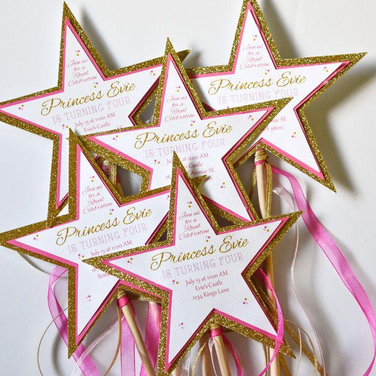 DIY Princess Wand Invitations, Princess Party Invitations