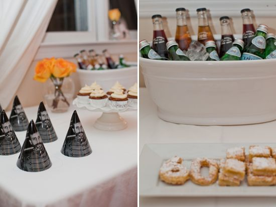 60th birthday party inspiration. Check out the rest of the photos. The party hats with photos of the guest of honor are fabulous!
