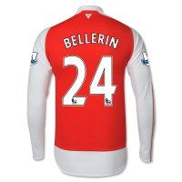 15-16 Arsenal Football Shirt Cheap BELLERIN #24 Long Sleeve Home Replica Jersey [B860]