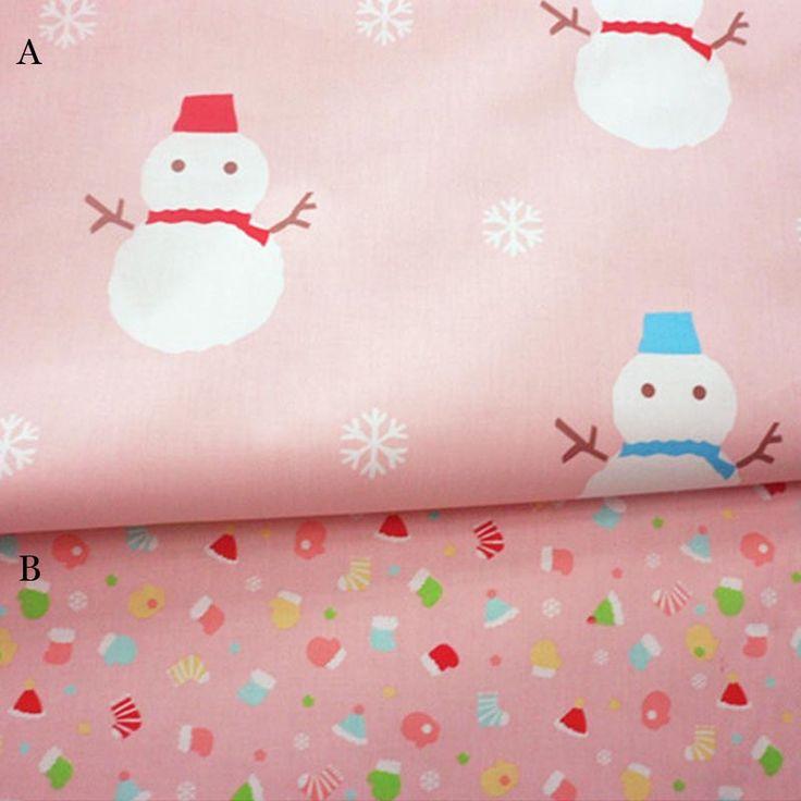 1 м розовый белый снеговик и рождество шляпу и носки AB 100% хлопок саржа DIY для малыша постельные принадлежности палатка ручная жк тела тканикупить в магазине Ai Guo Trading Co., Ltd.наAliExpress