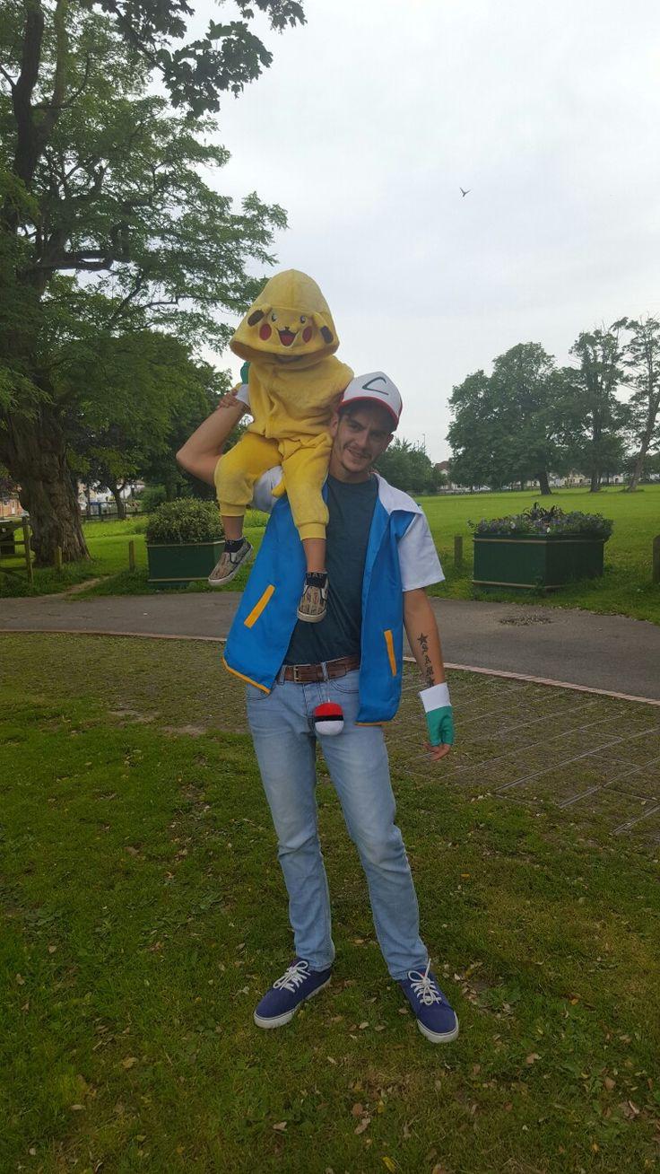 Pokémon inspired ash and Pikachu fancy dress costume
