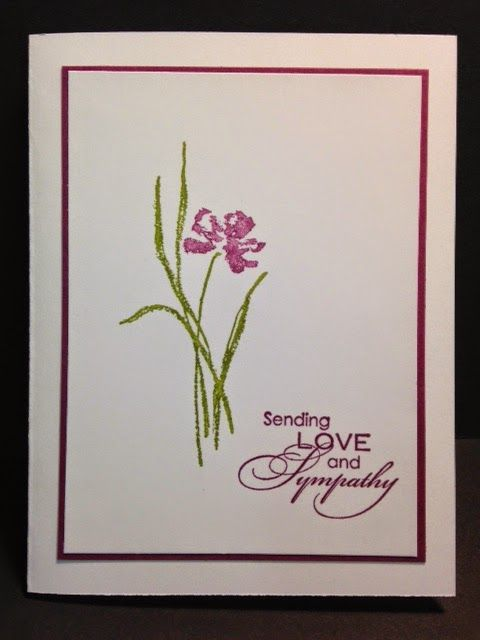 Love and Sympathy, Sympathy Card, Stampin' Up!, Rubber Stamping, Handmade Cards, Direct to Rubber Stamping Technique