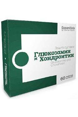 ESSENTIALS. Глюкозамин и хондроитин, купить в Харькове, цена