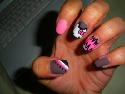 Nail ArtNails Style, Nails Art, Awesome Nails, Cute Nails, Nailart, Nails Design, Thumb Nails, New Products, Hello Kitty Nails
