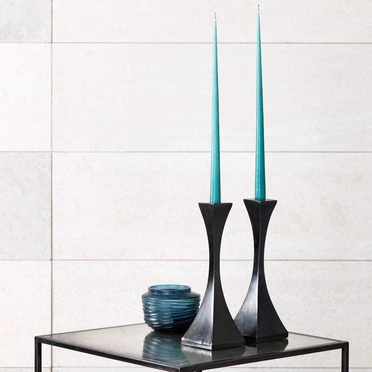 Capricorn #candlesticks in solid #bronze with patinated finish.