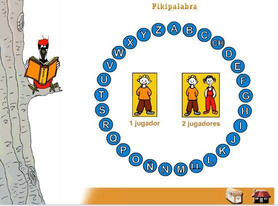 """""""Pikipalabra"""" es un juego del Gobierno de Navarra semejante a """"La Ruleta de las Palabras"""" o a """"Pasapalabra"""". Para 1 o 2 jugadores, a partir de las 29 letras del abecedario español (Se incluyen la """"ch"""" y la """"ll""""), se trata de adivinar a qué palabra se refiere una definición dada. Tiene tres niveles que se podrían acercar a: Nivel 1: 3º de Primaria. Nivel 2: 4º de Primaria. Nivel 3: 5º de Primaria."""