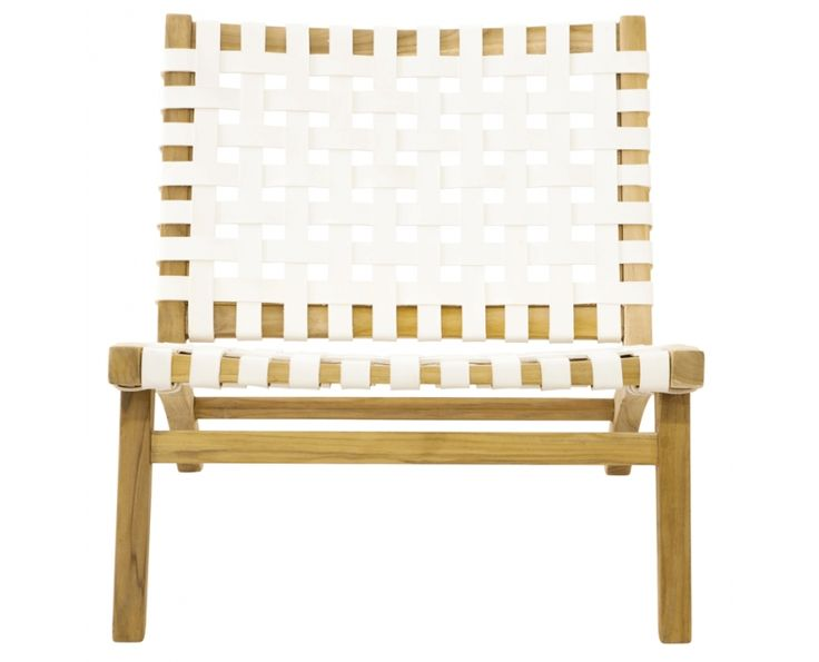 Ashanti Chair With White Woven Leather - Furniture | Weylandts South Africa